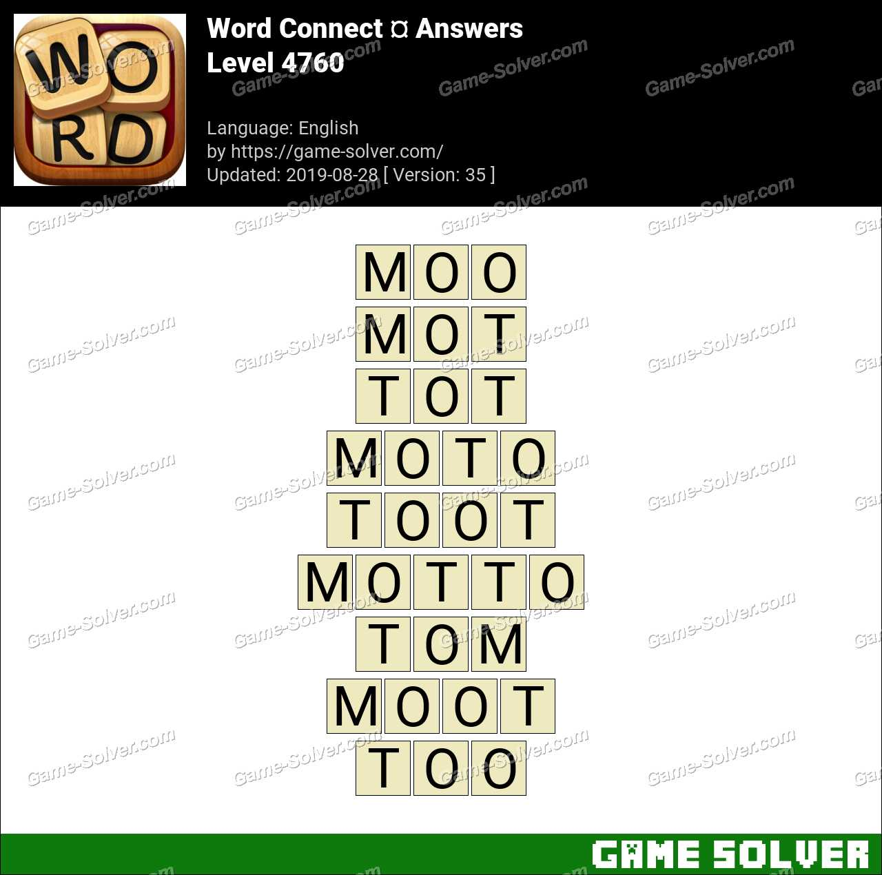Word Connect Level 4760 Answers