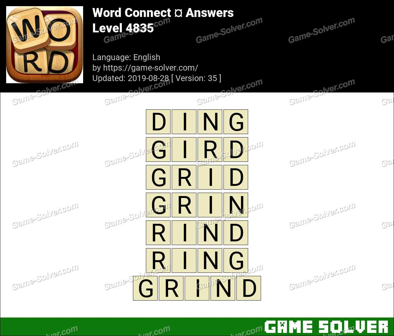 Word Connect Level 4835 Answers