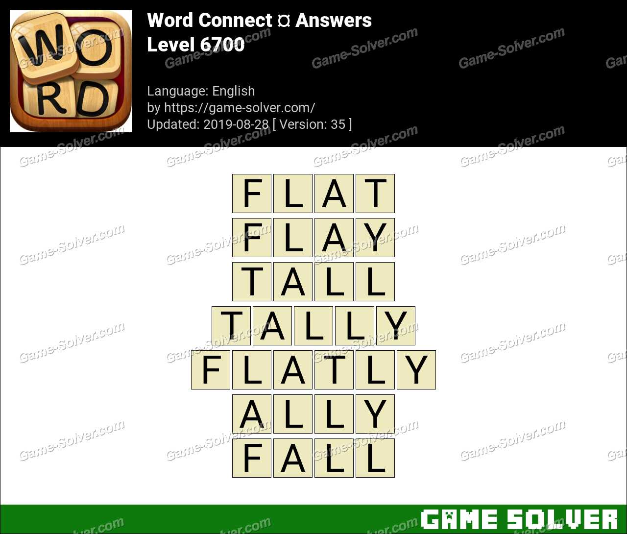 Word Connect Level 6700 Answers