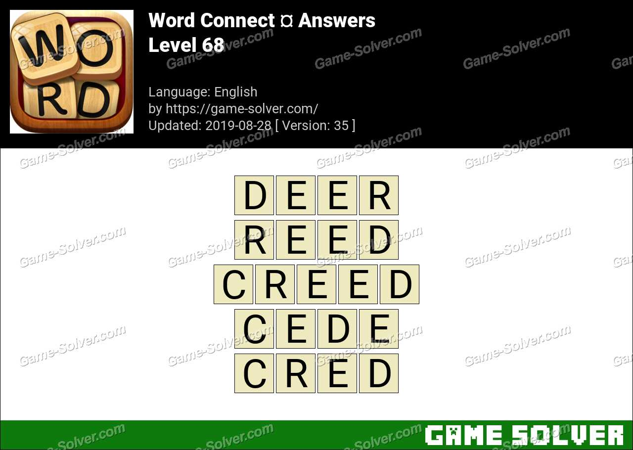 Word Connect Level 68 Answers