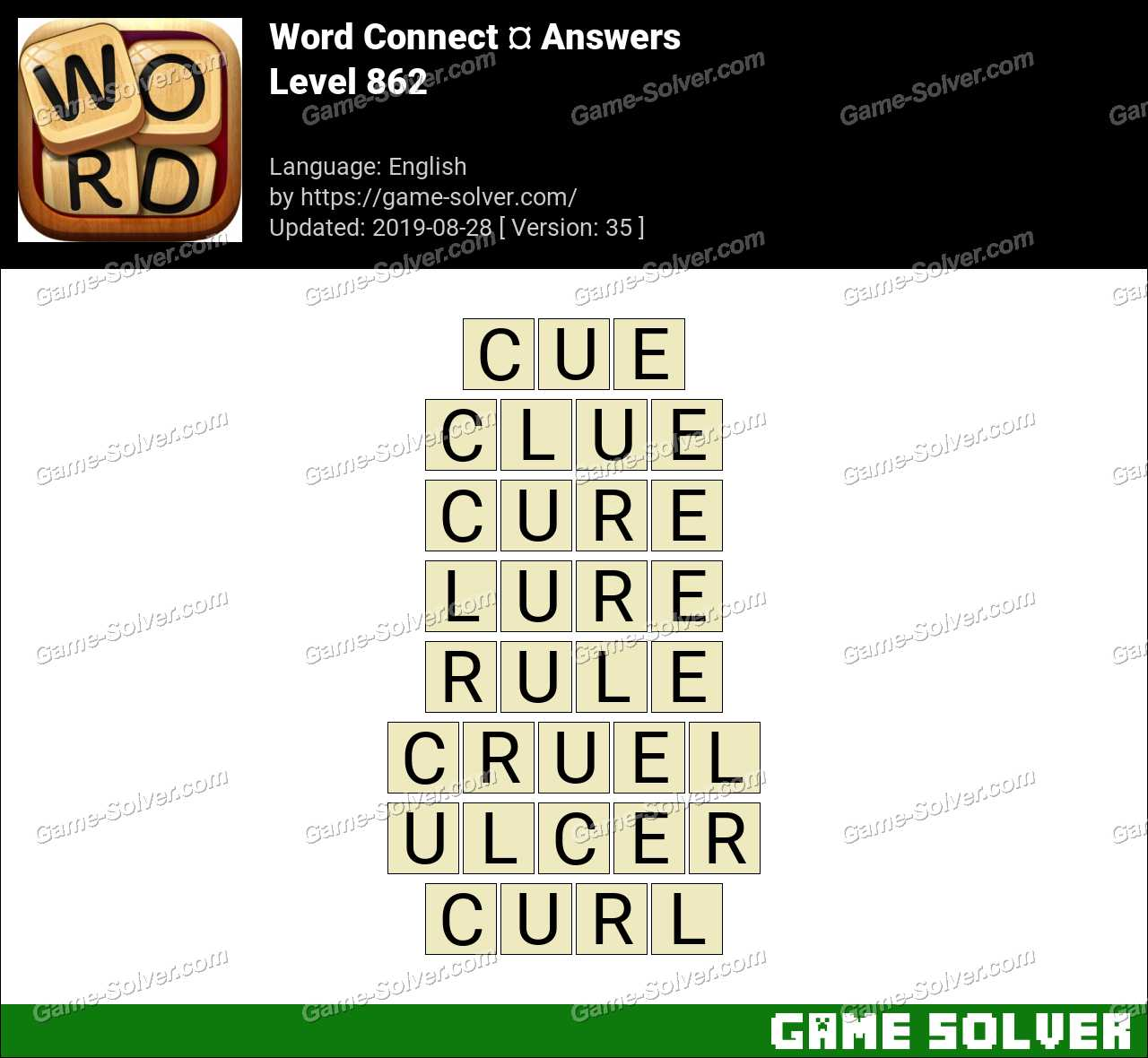 Word Connect Level 862 Answers