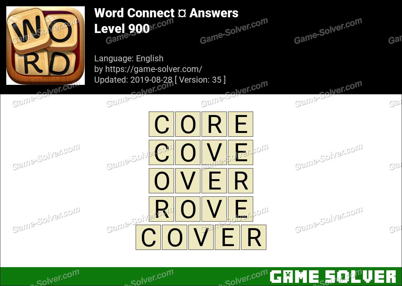 Word Connect Level 900 Answers