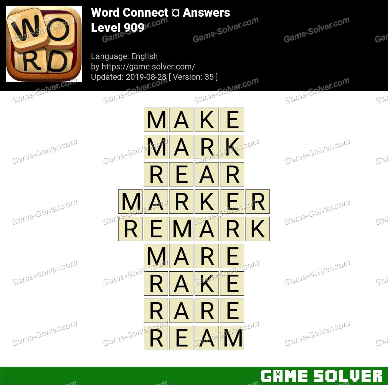 Word Connect Level 909 Answers