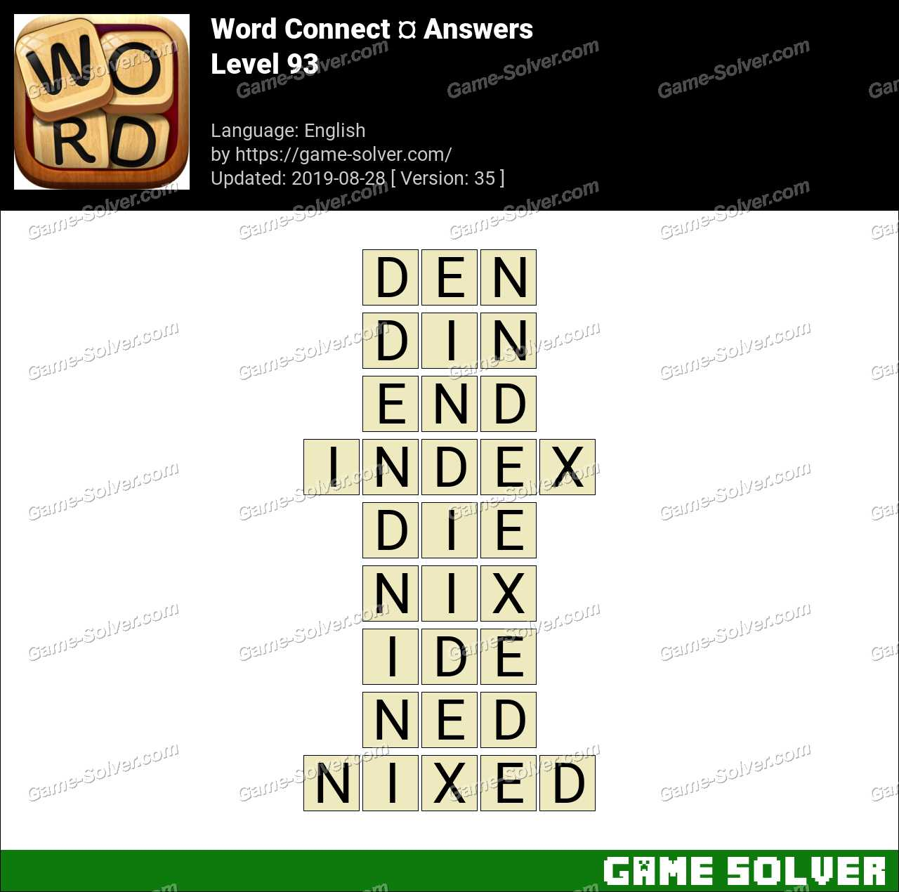 Word Connect Level 93 Answers