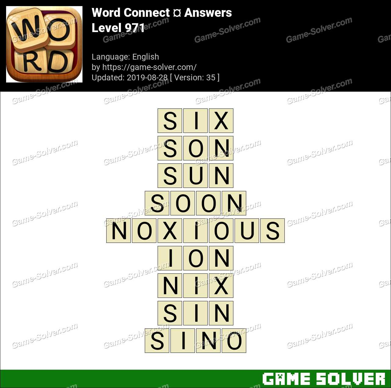 Word Connect Level 971 Answers