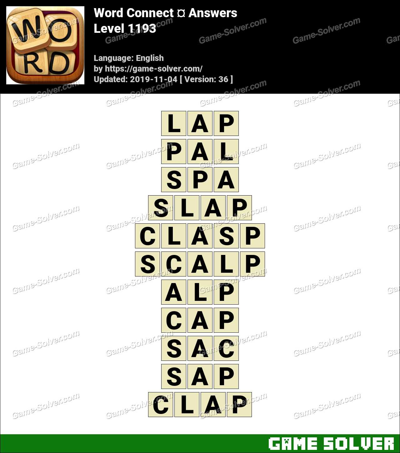 Word Connect Level 1193 Answers