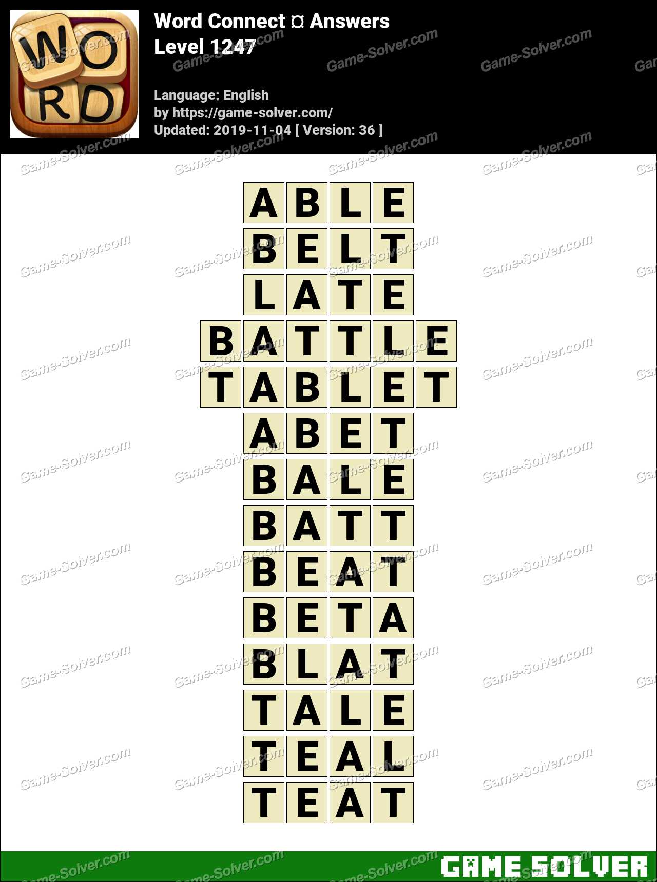 Word Connect Level 1247 Answers