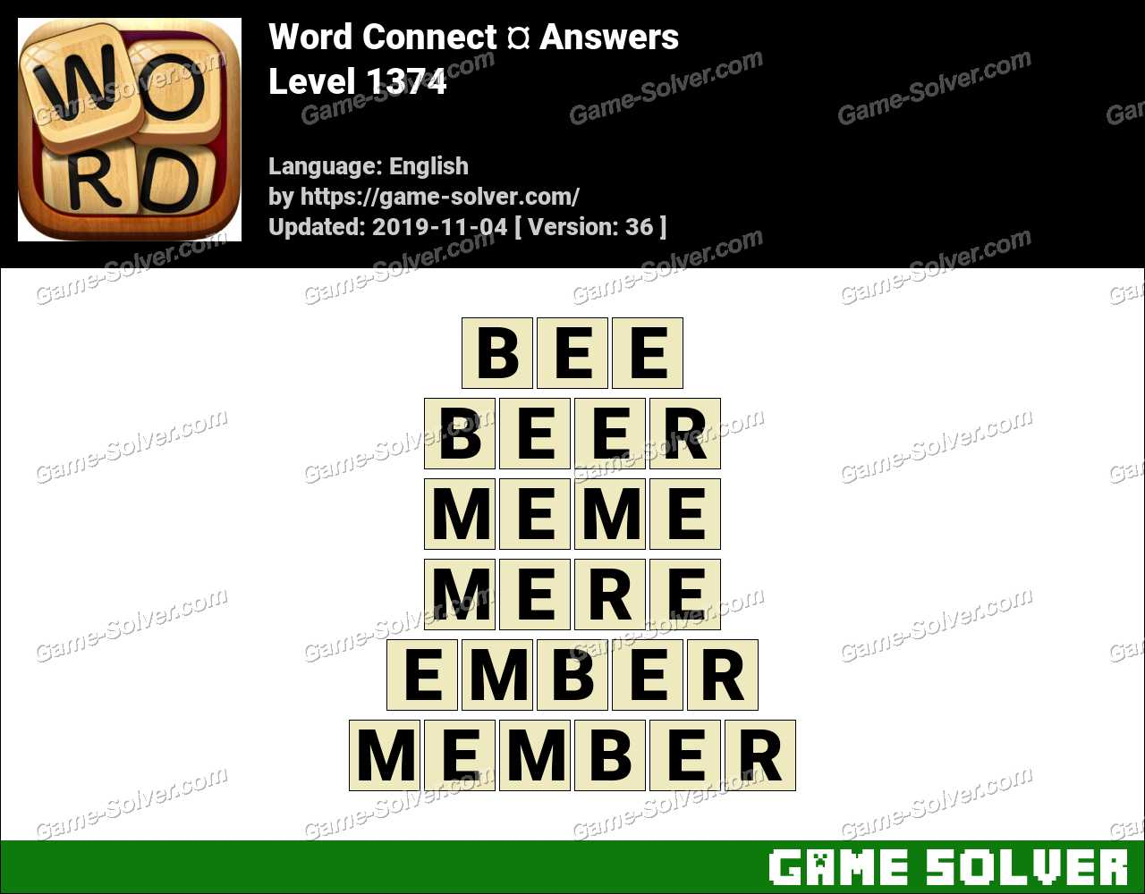 Word Connect Level 1374 Answers