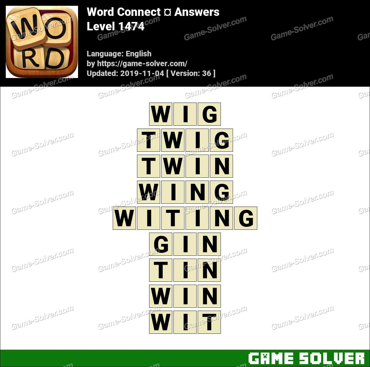 Word Connect Level 1474 Answers