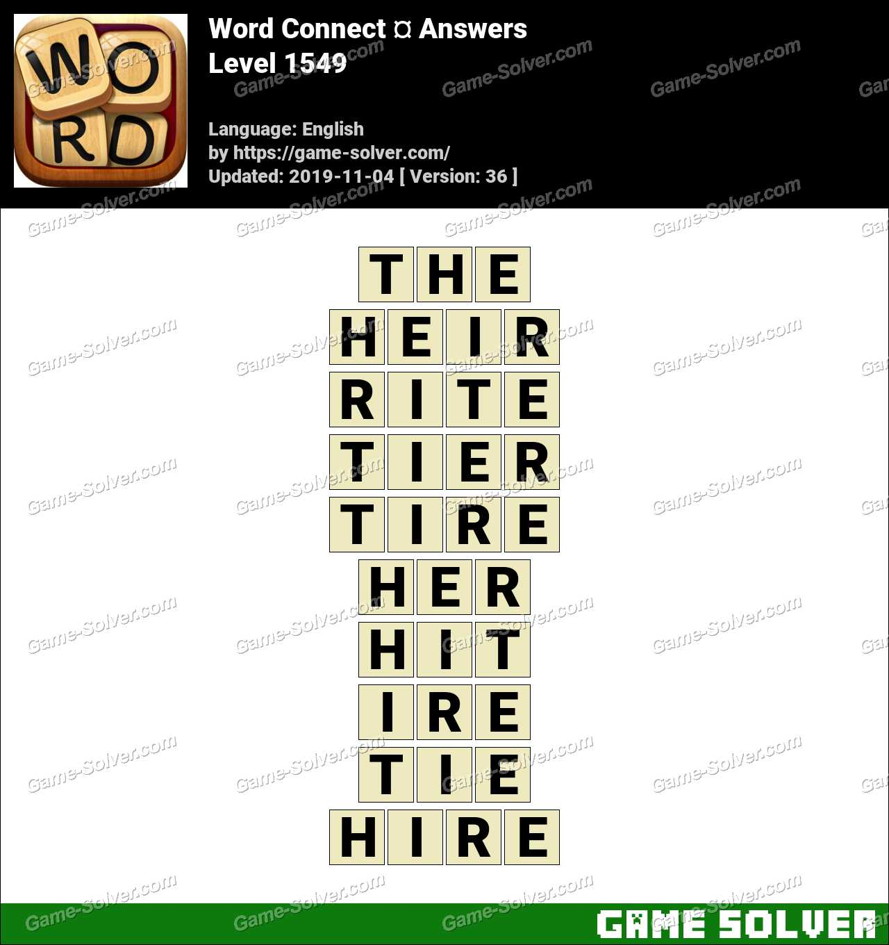 Word Connect Level 1549 Answers