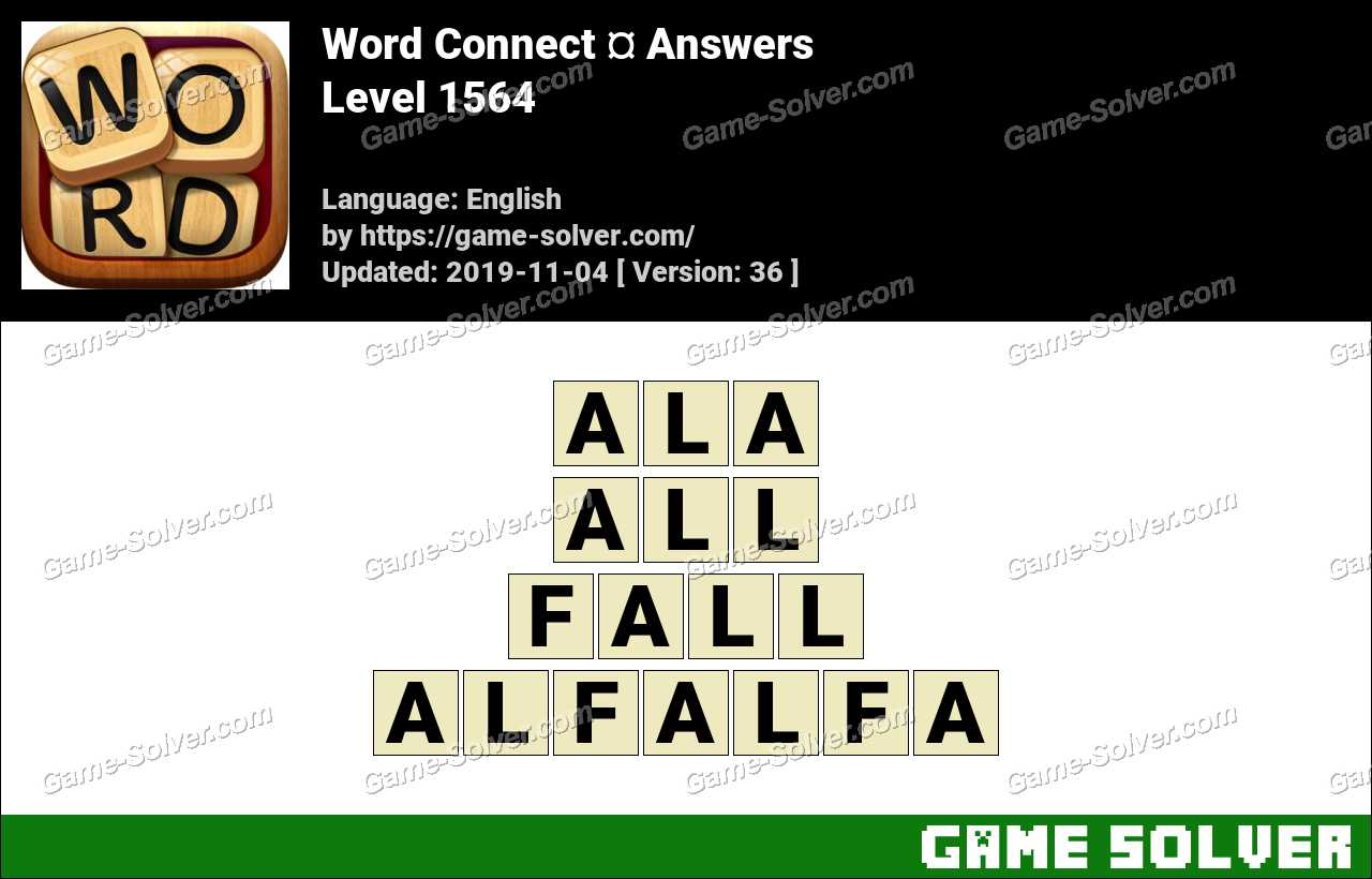 Word Connect Level 1564 Answers