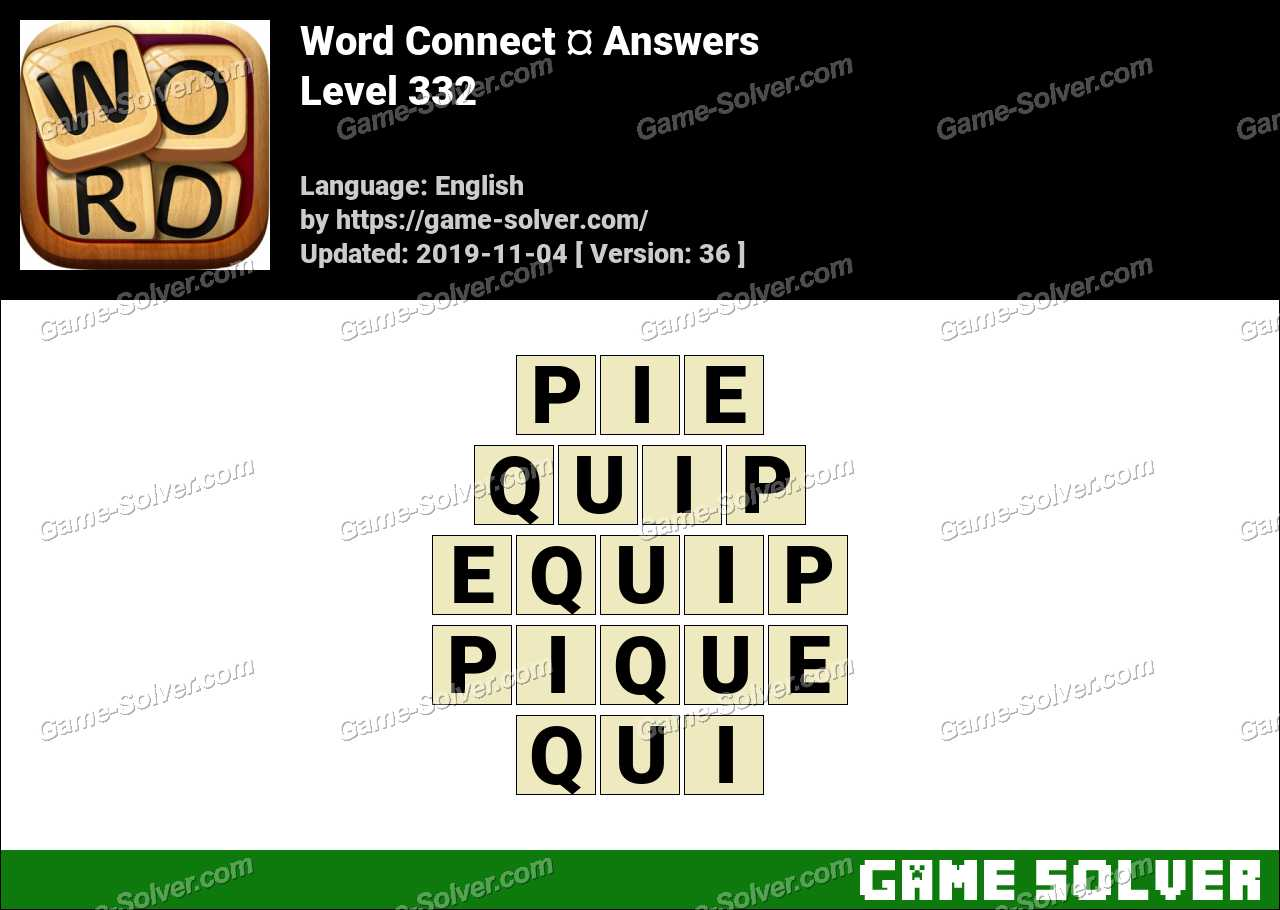 Word Connect Level 332 Answers