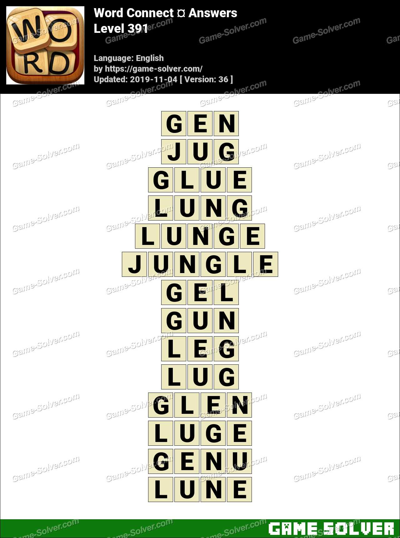 Word Connect Level 391 Answers