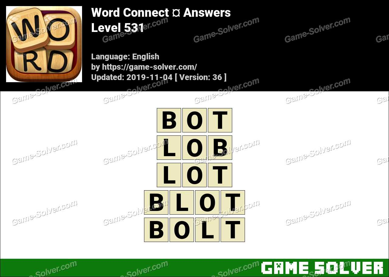 Word Connect Level 531 Answers