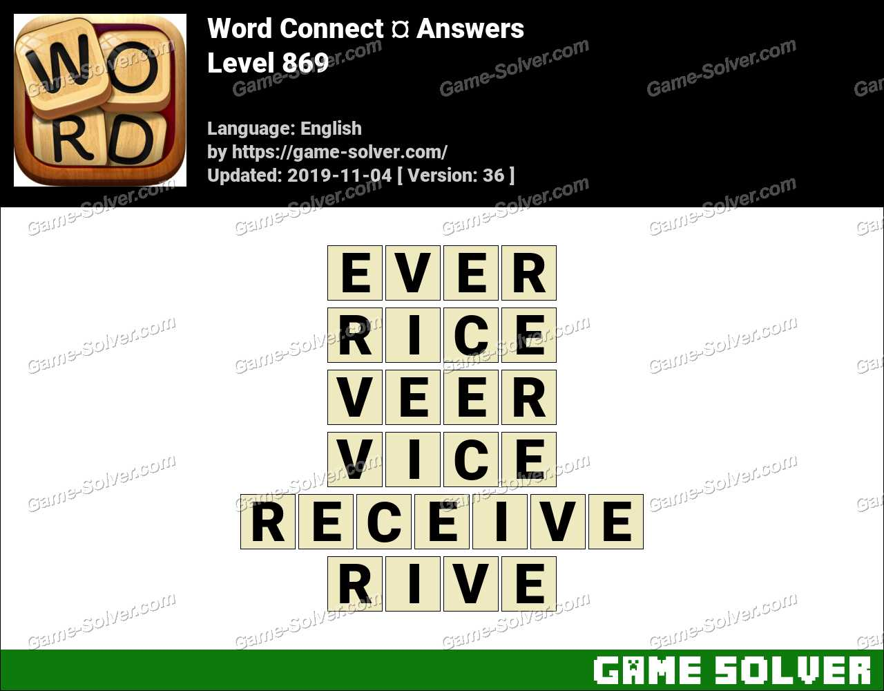 Word Connect Level 869 Answers