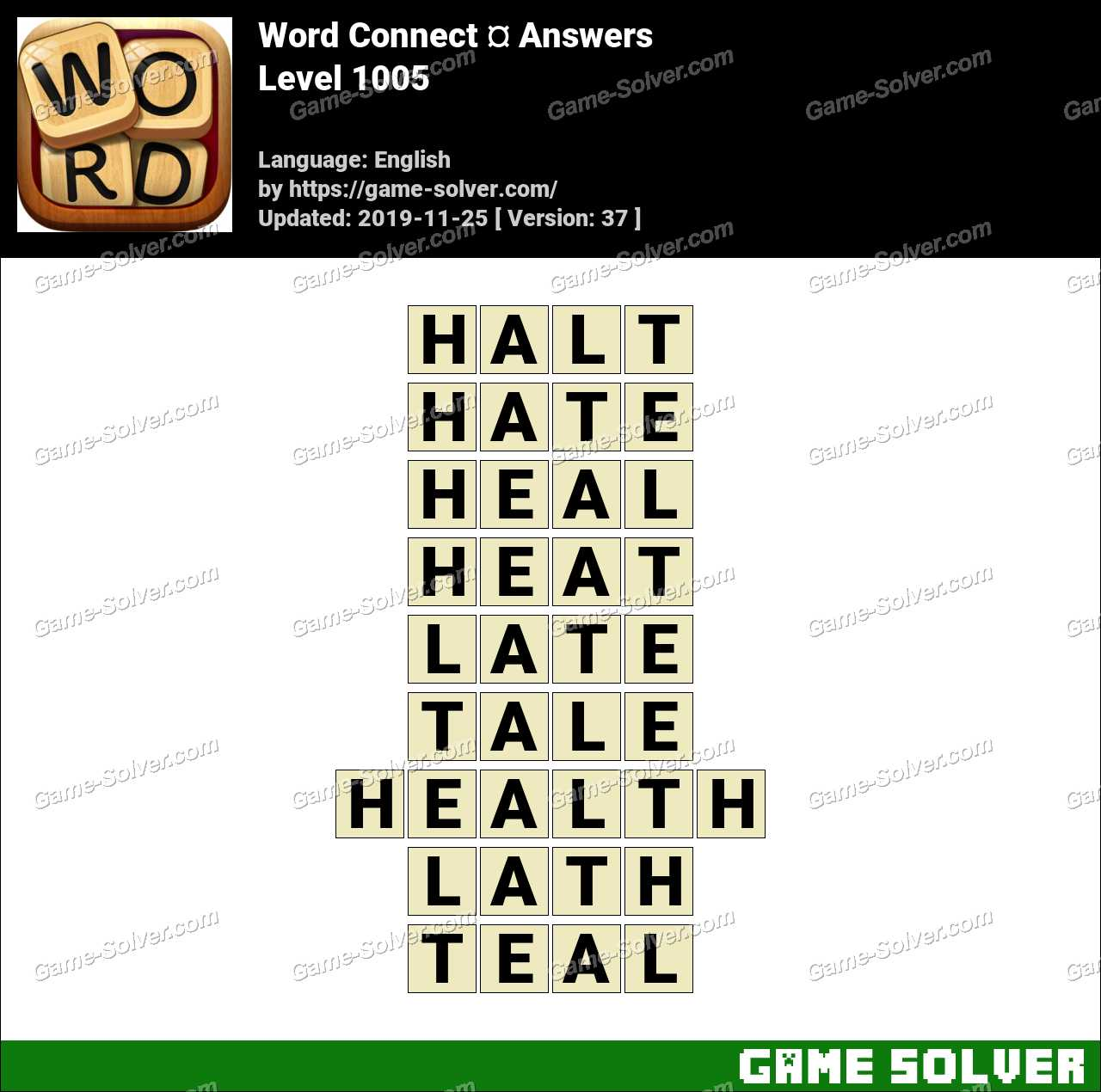 Word Connect Level 1005 Answers