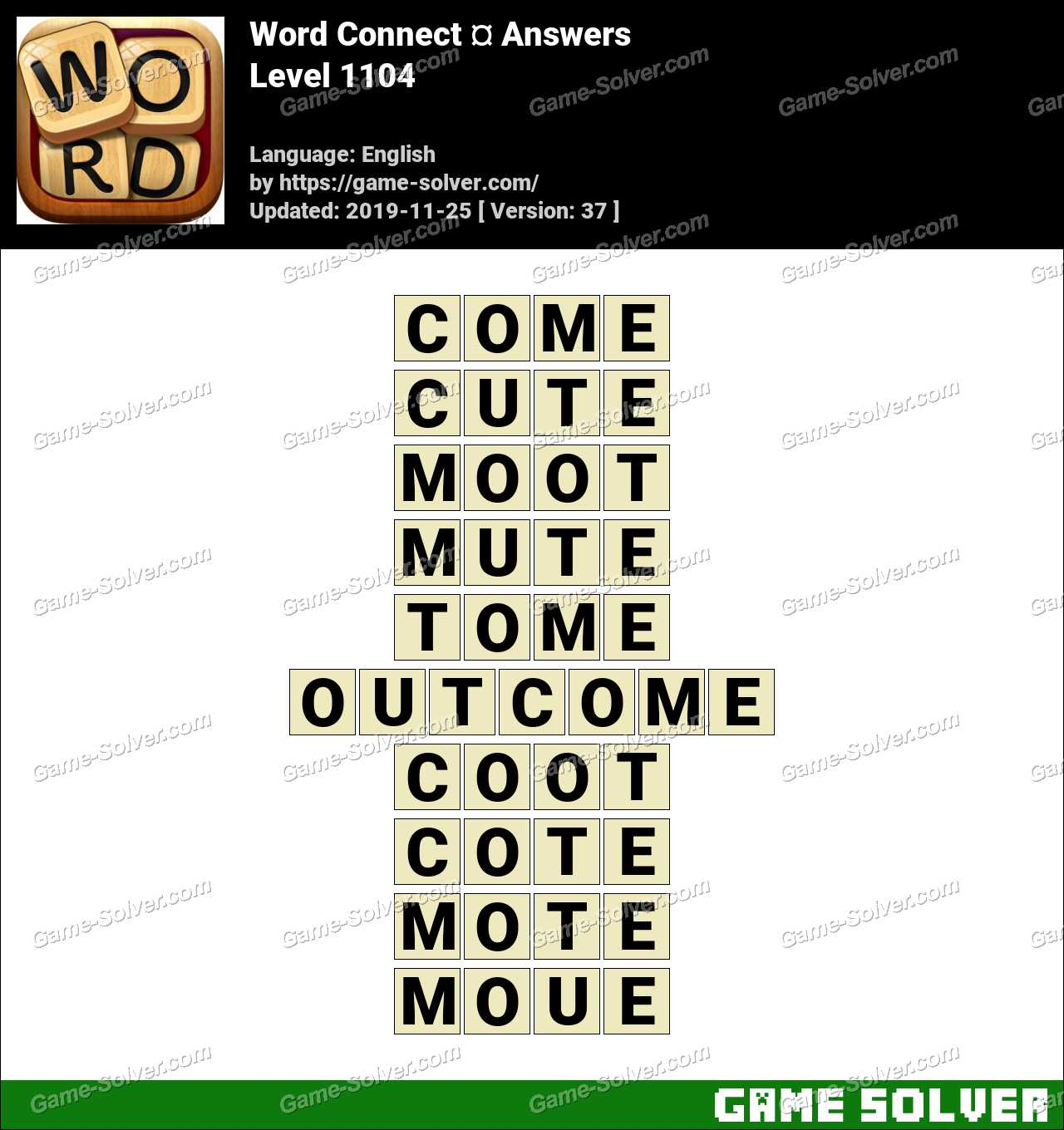 Word Connect Level 1104 Answers