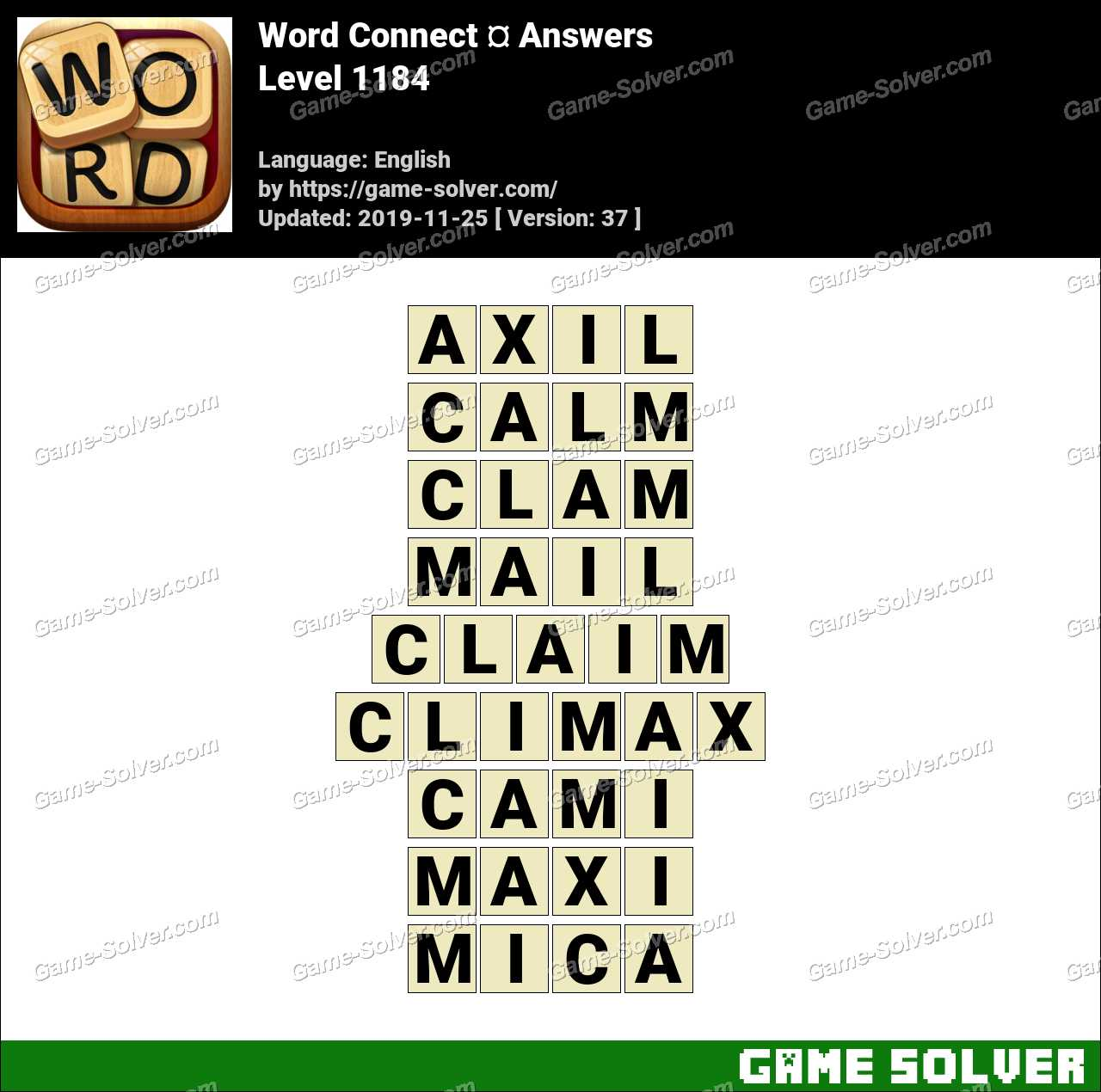 Word Connect Level 1184 Answers
