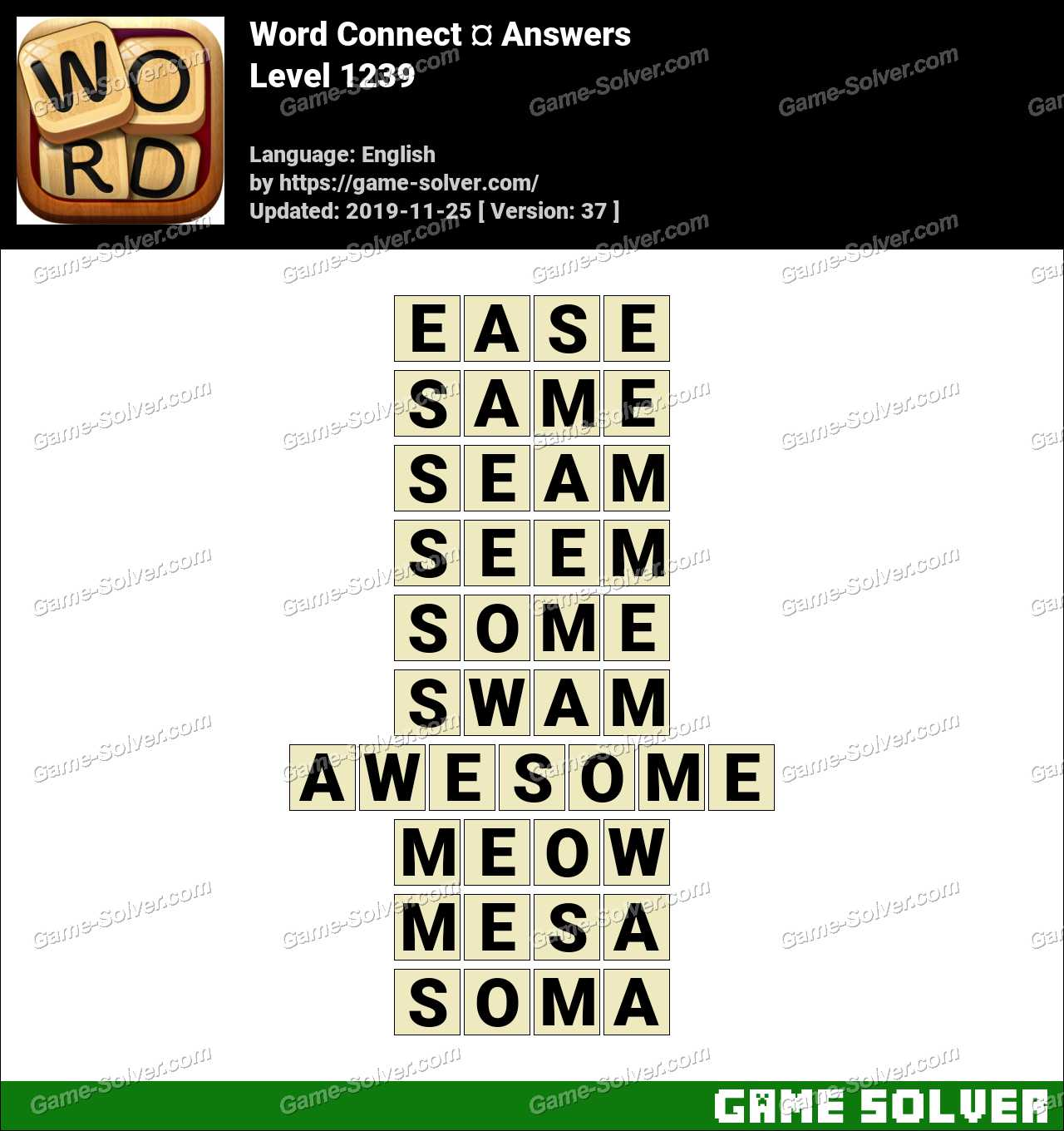 Word Connect Level 1239 Answers