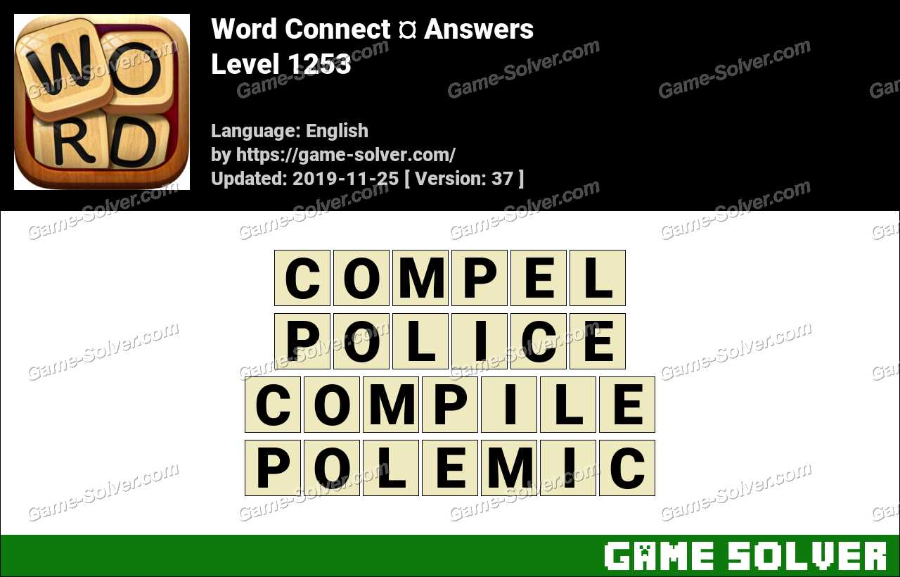 Word Connect Level 1253 Answers