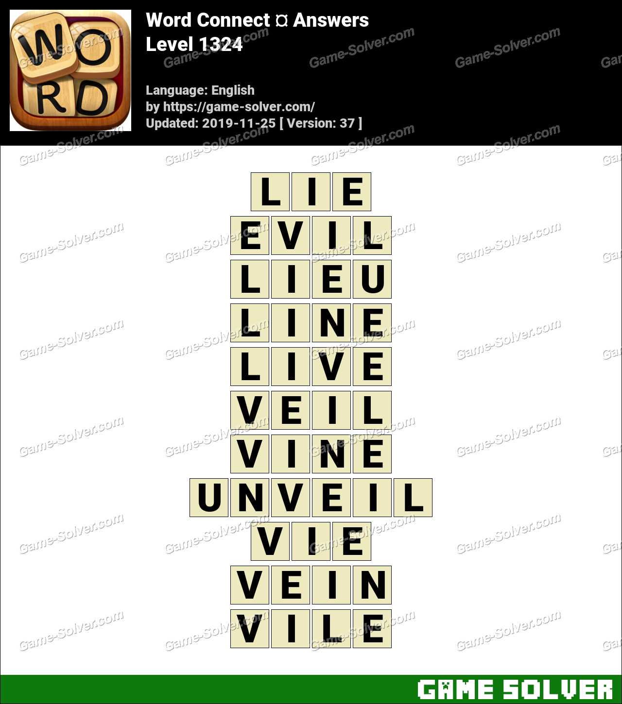 Word Connect Level 1324 Answers