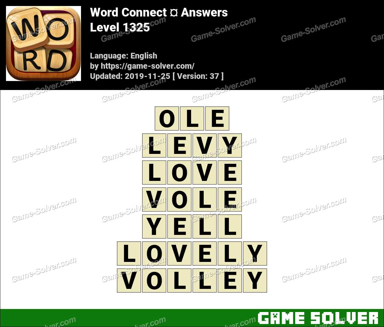 Word Connect Level 1325 Answers