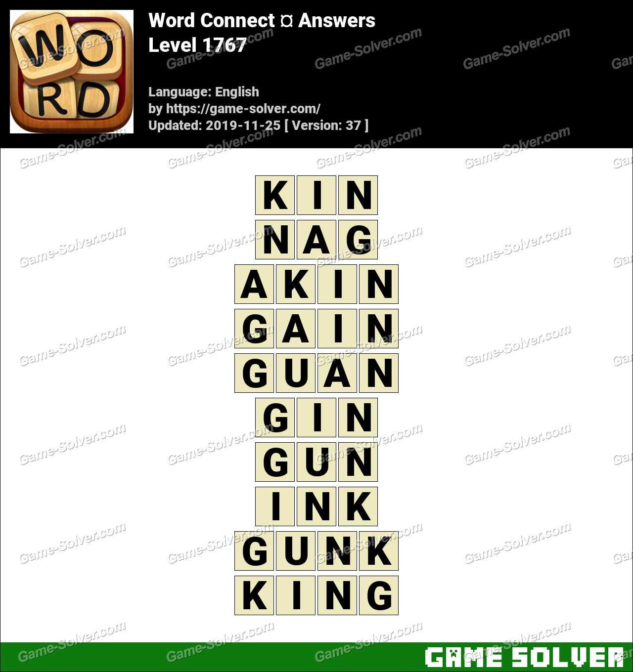 Word Connect Level 1767 Answers