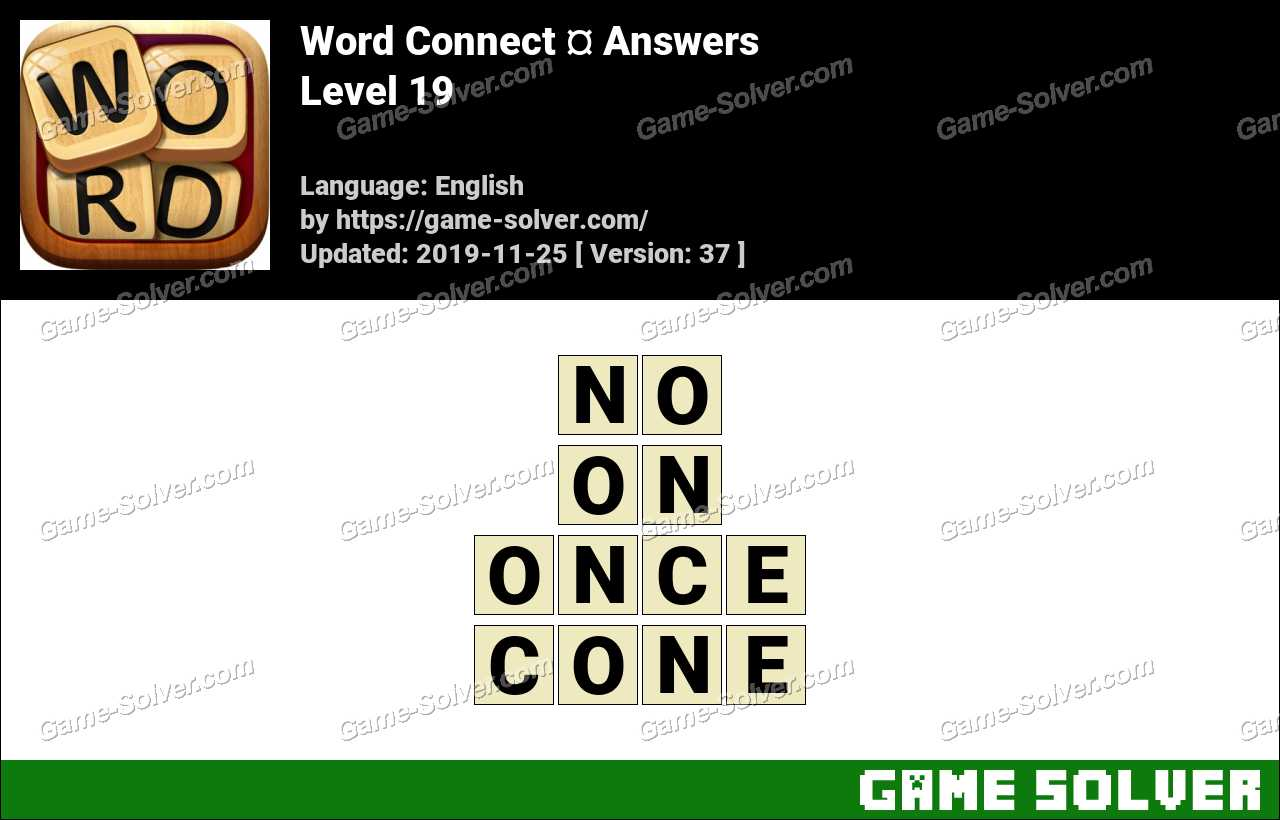 Word Connect Level 19 Answers