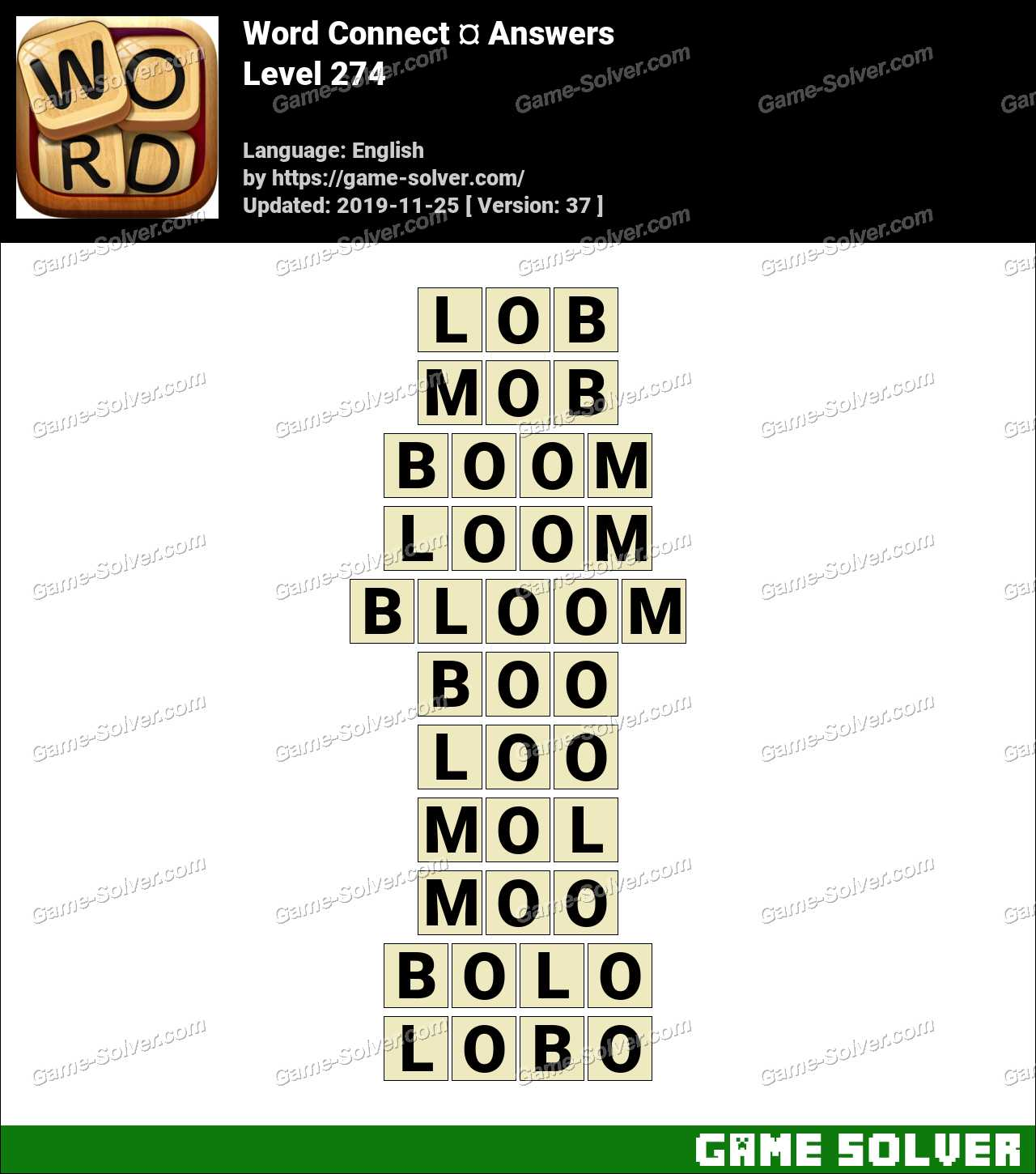 Word Connect Level 274 Answers
