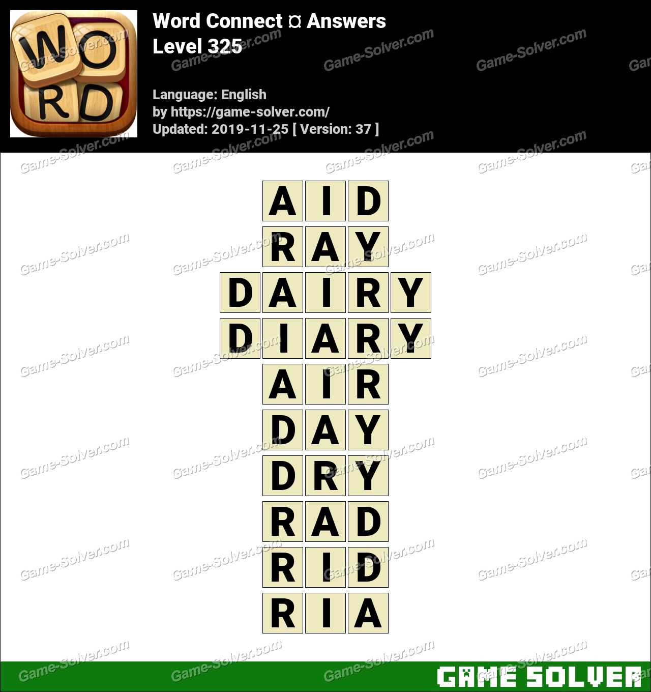 Word Connect Level 325 Answers