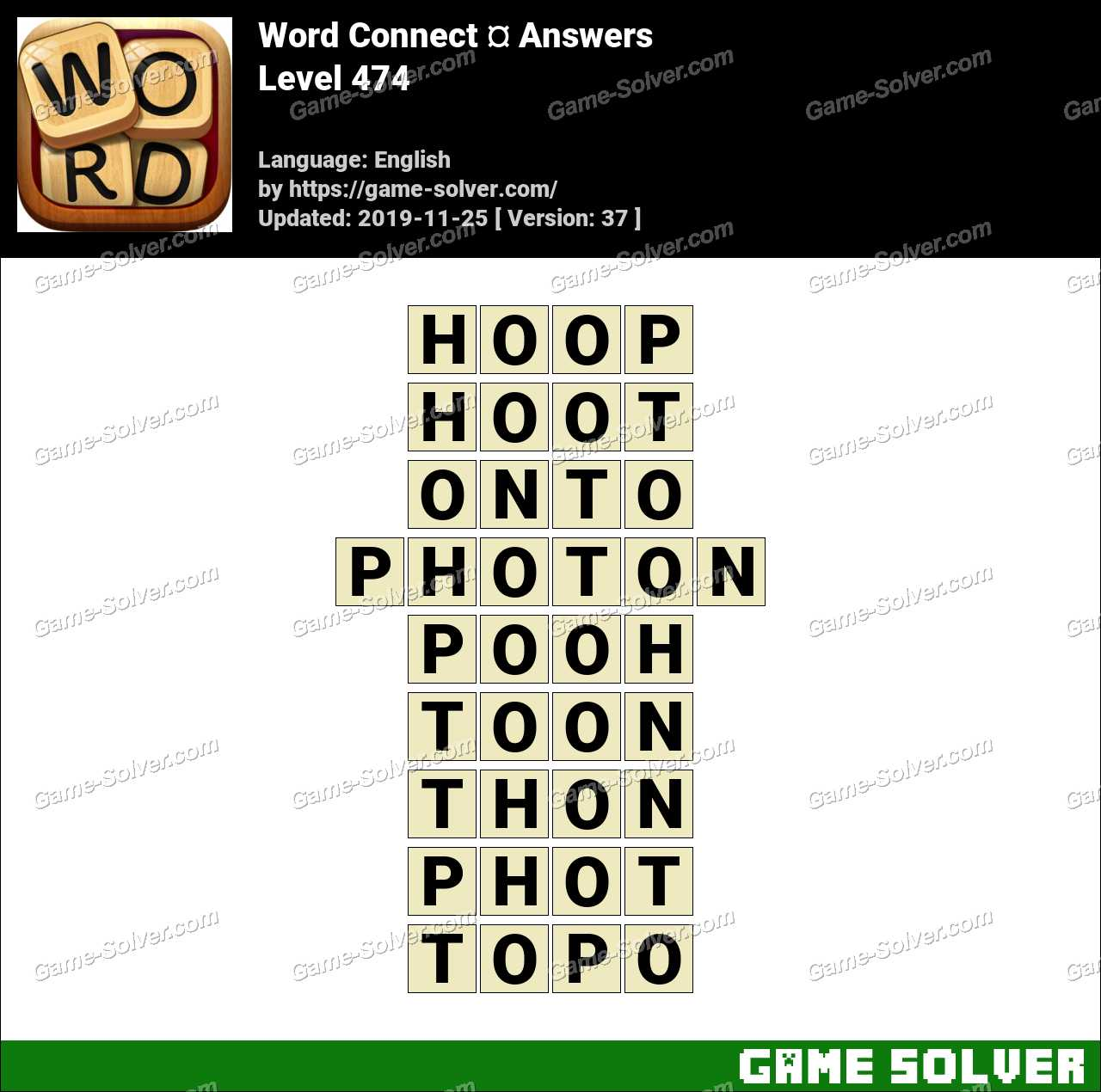 Word Connect Level 474 Answers