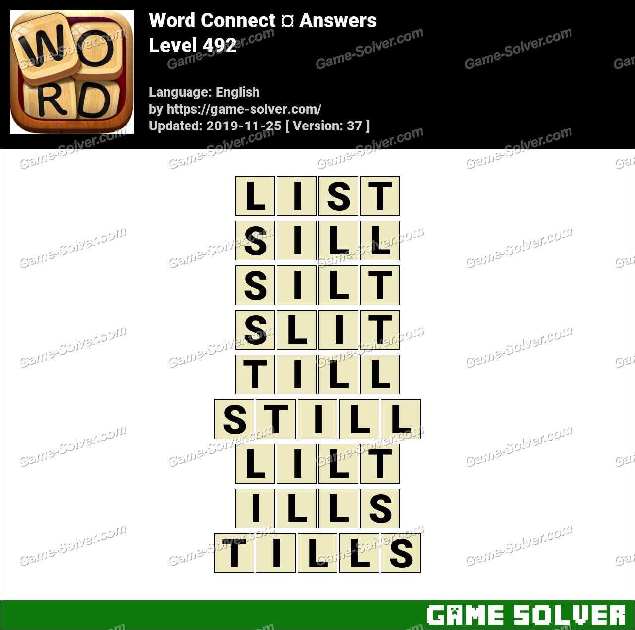 Word Connect Level 492 Answers