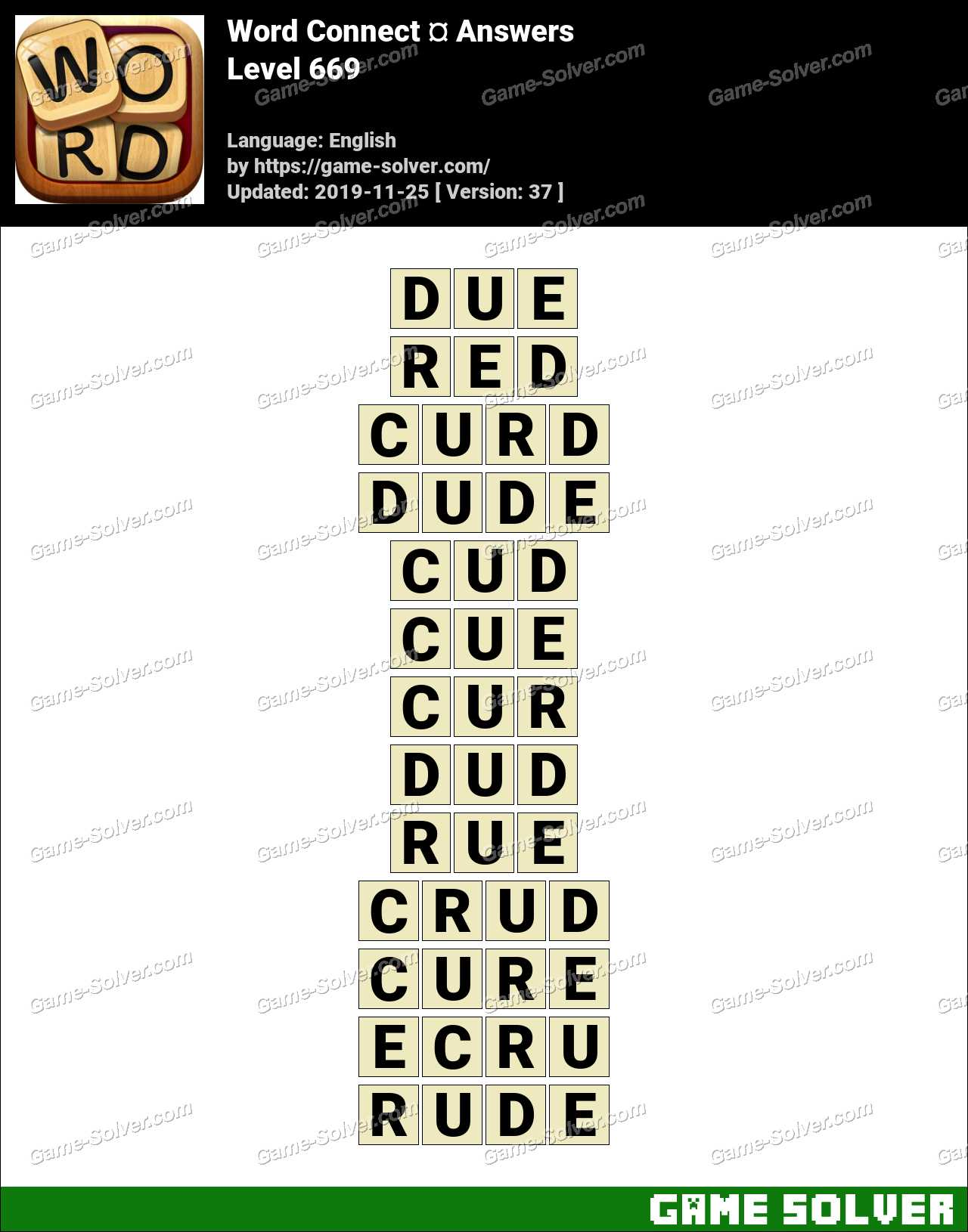 Word Connect Level 669 Answers