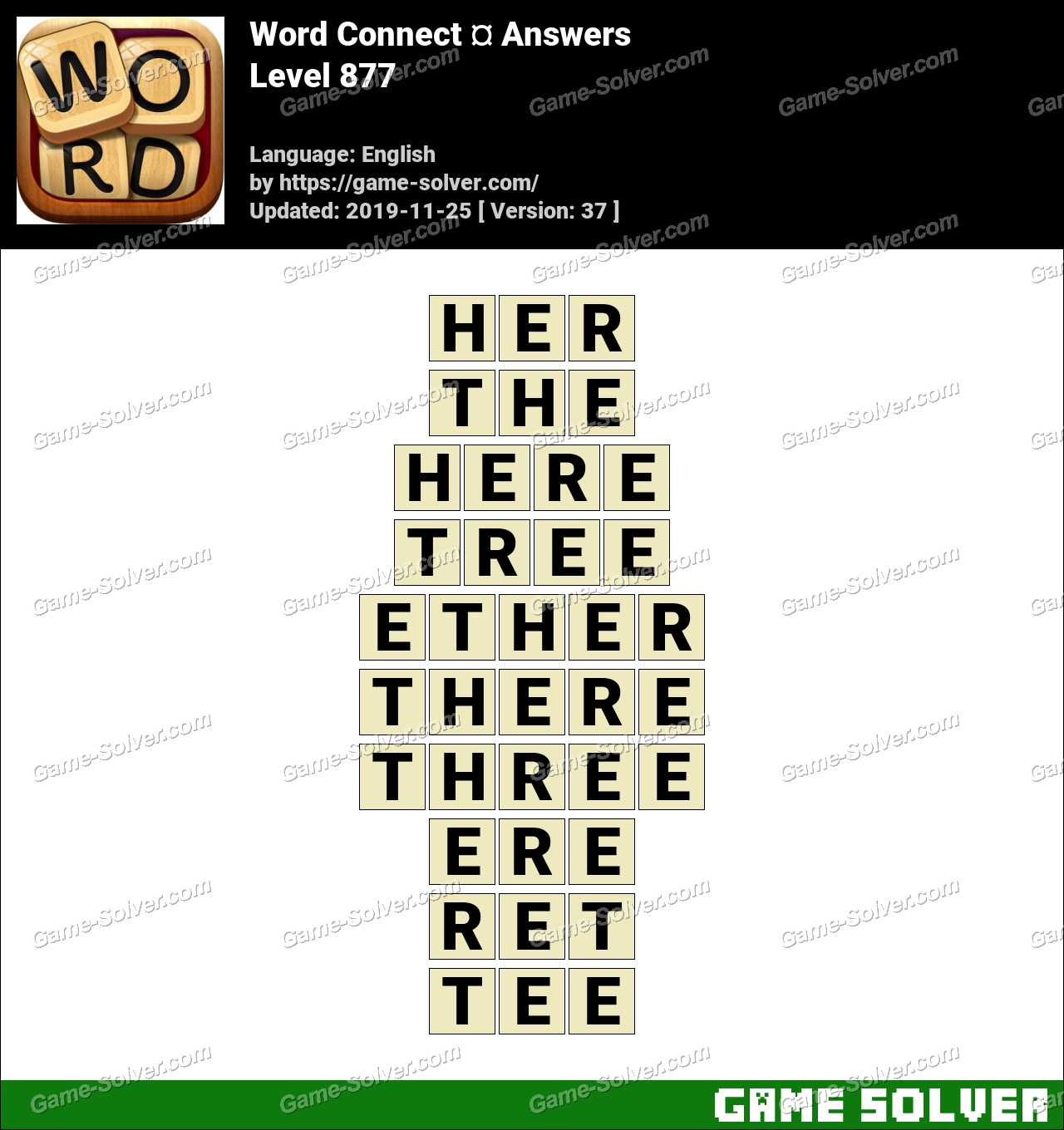 Word Connect Level 877 Answers