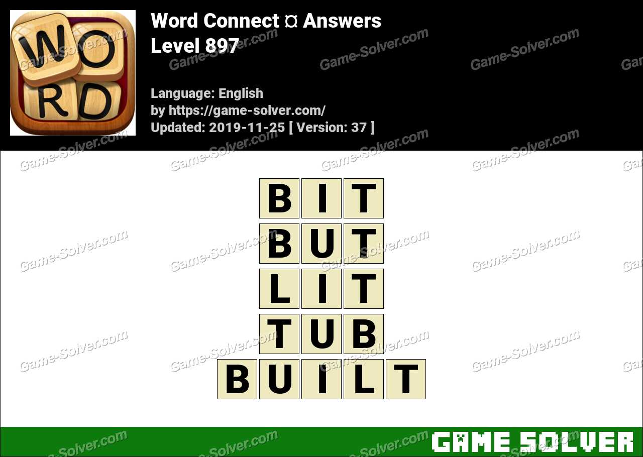 Word Connect Level 897 Answers
