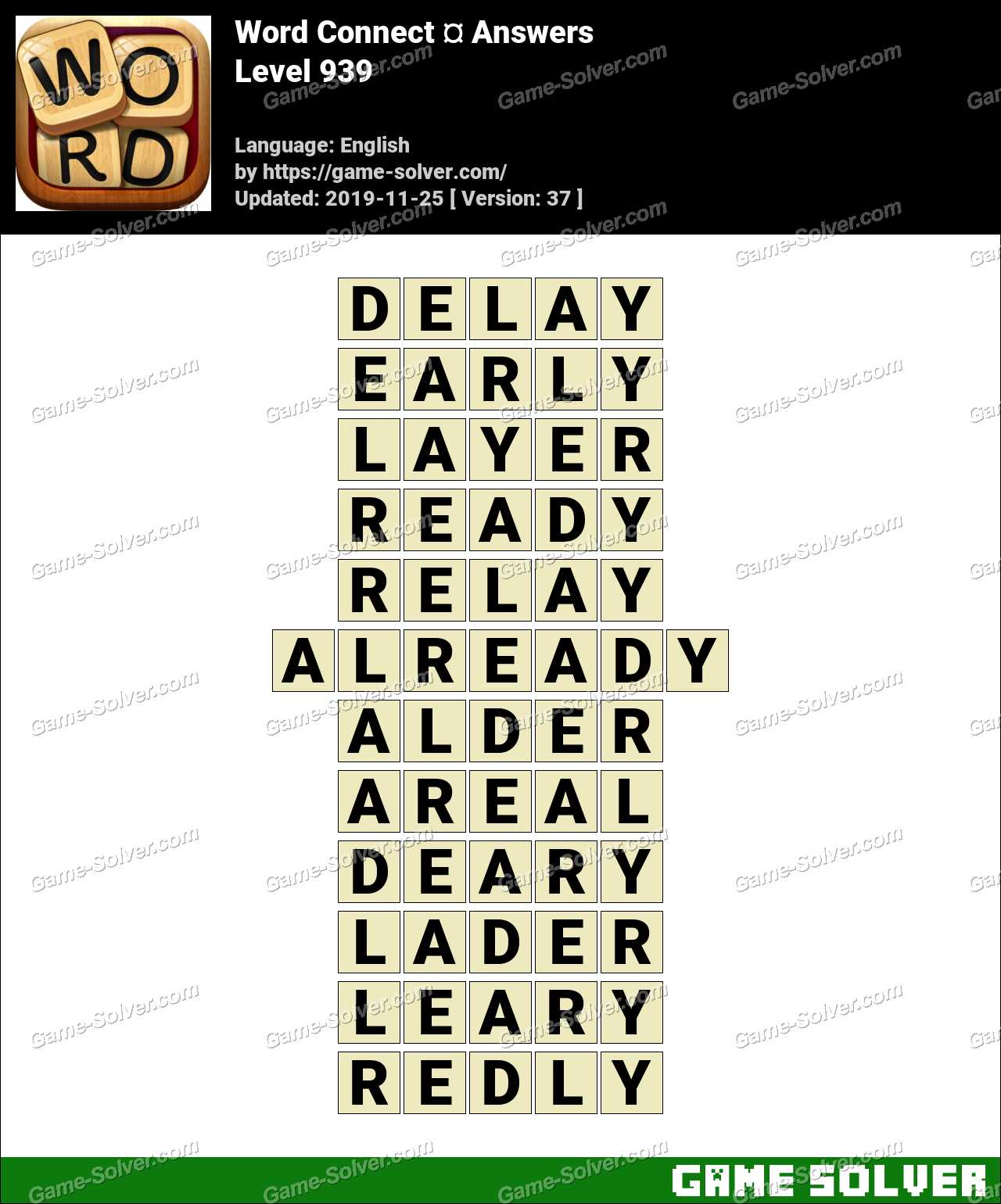 Word Connect Level 939 Answers