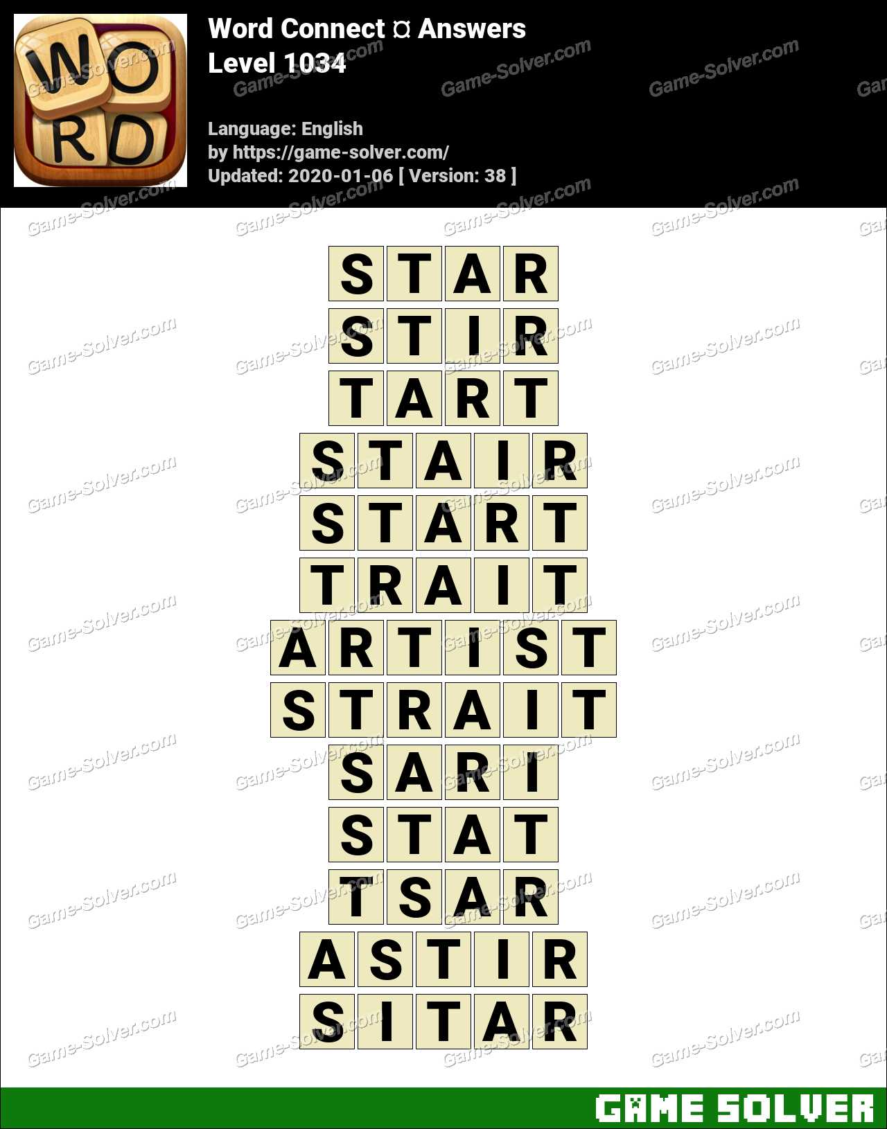 Word Connect Level 1034 Answers