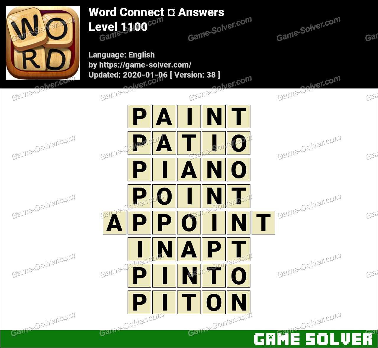 Word Connect Level 1100 Answers