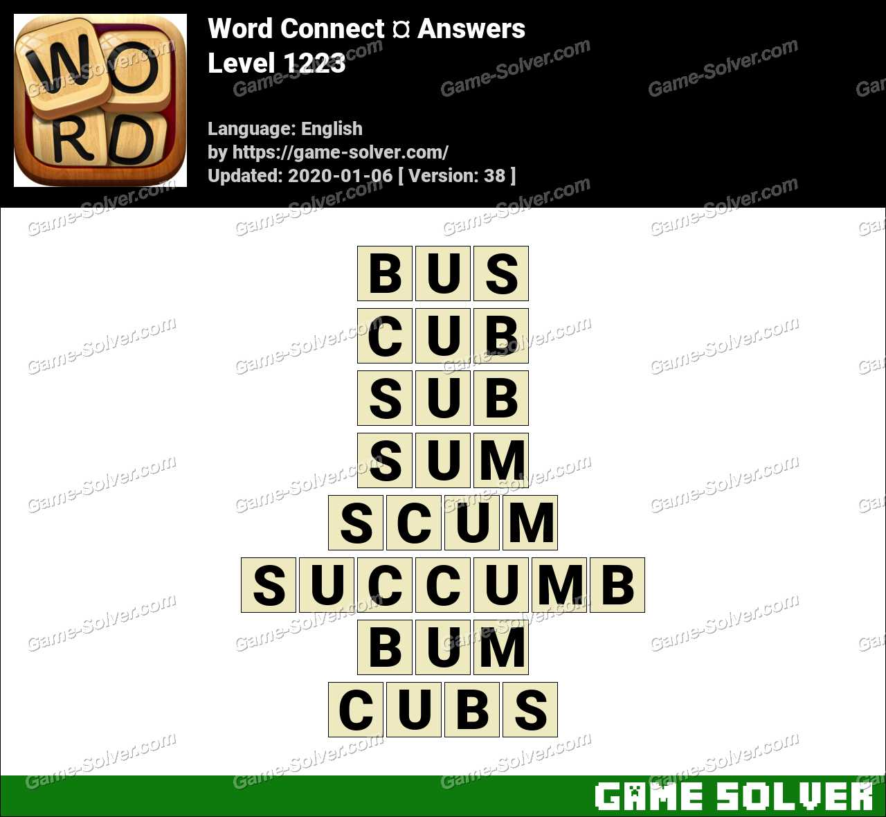 Word Connect Level 1223 Answers