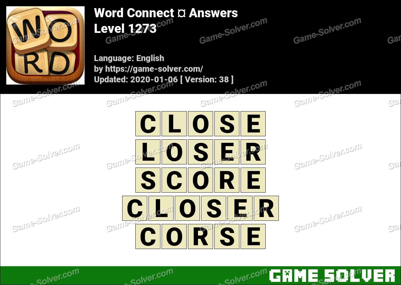 Word Connect Level 1273 Answers