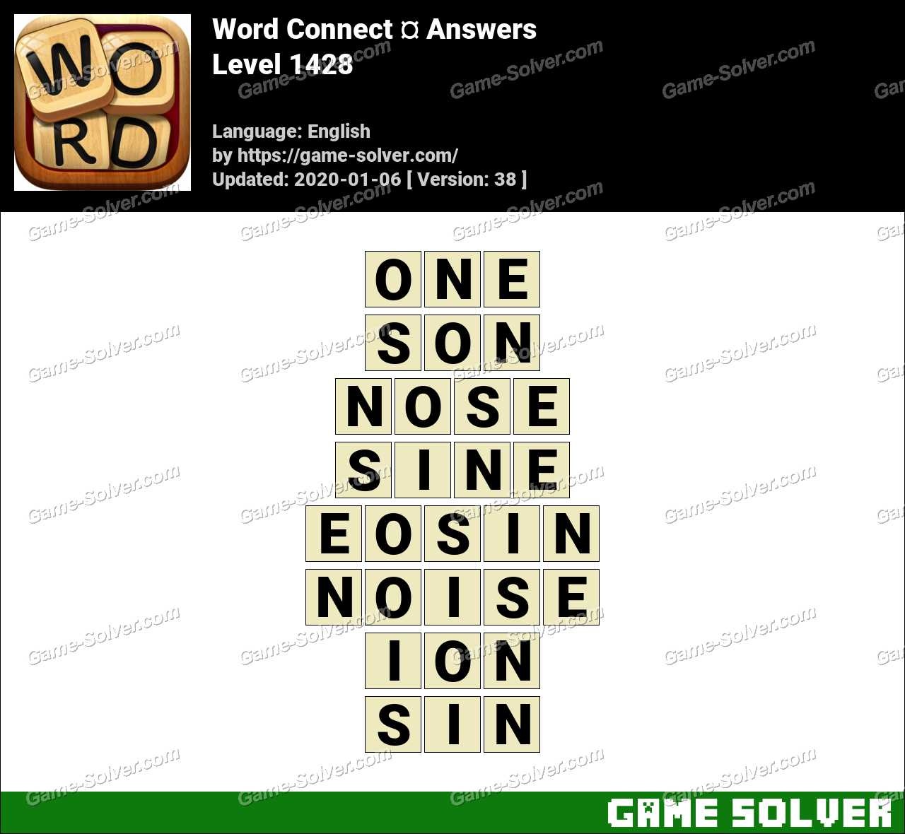 Word Connect Level 1428 Answers