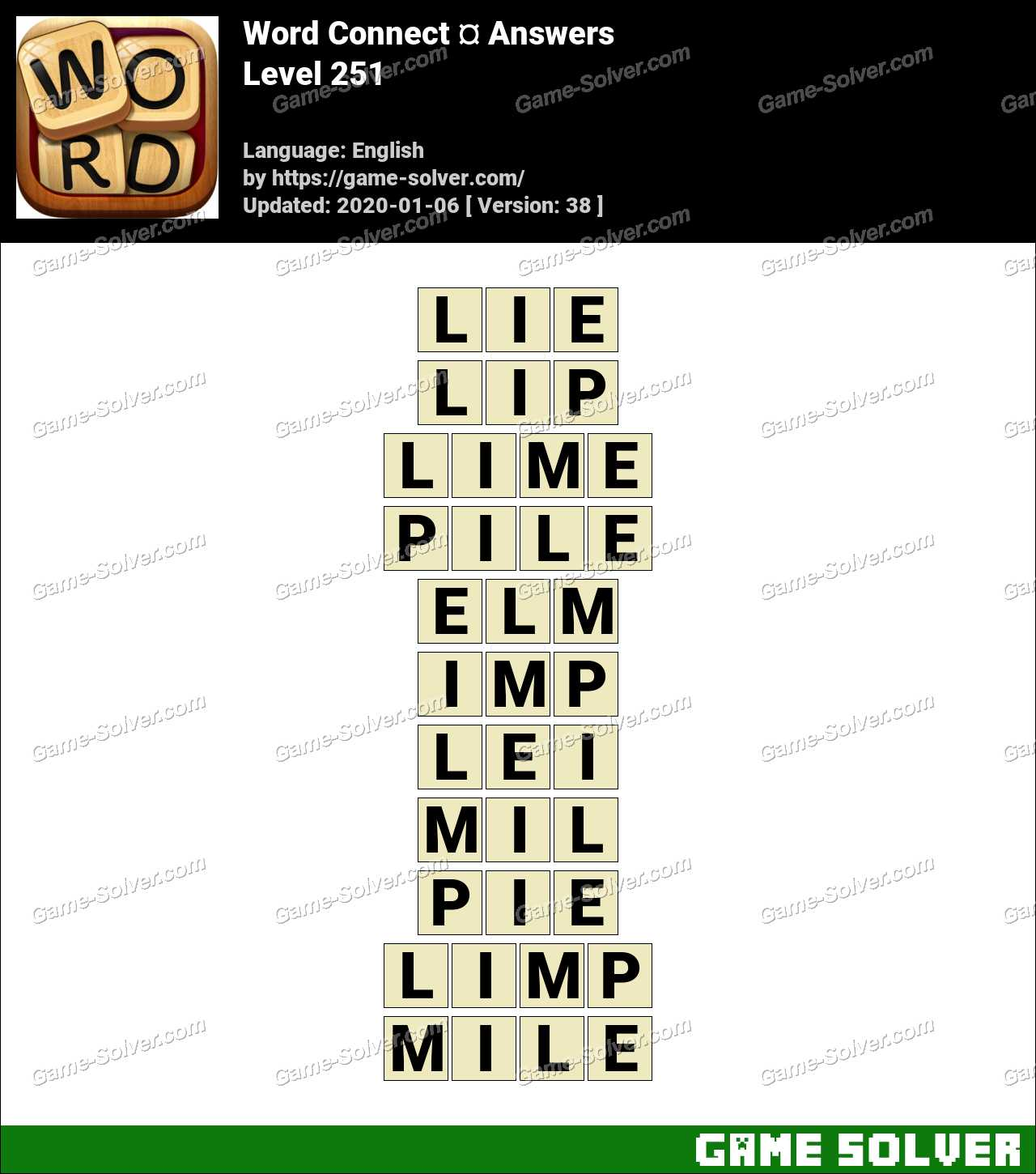 Word Connect Level 251 Answers