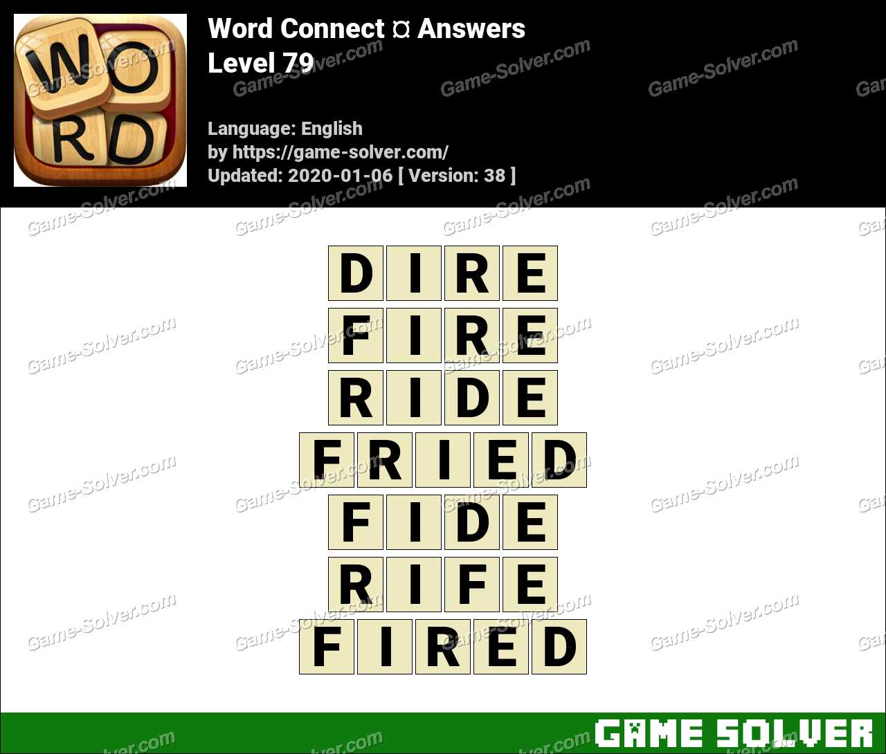Word Connect Level 79 Answers