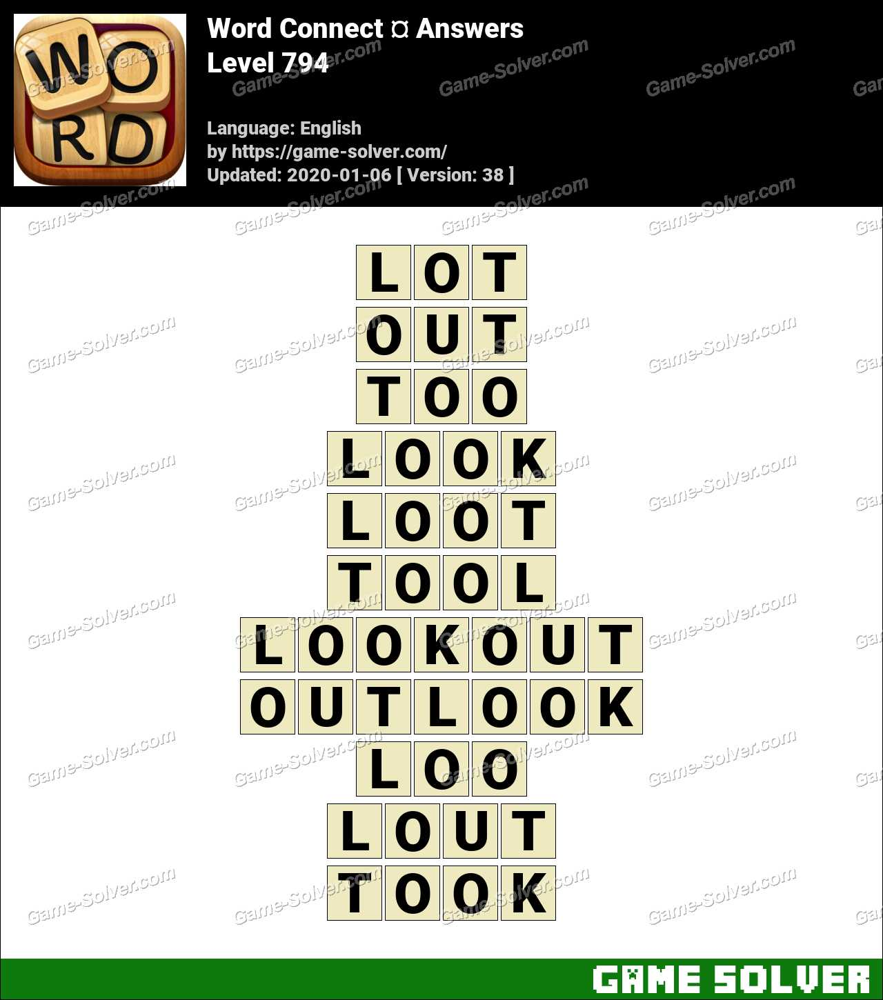 Word Connect Level 794 Answers