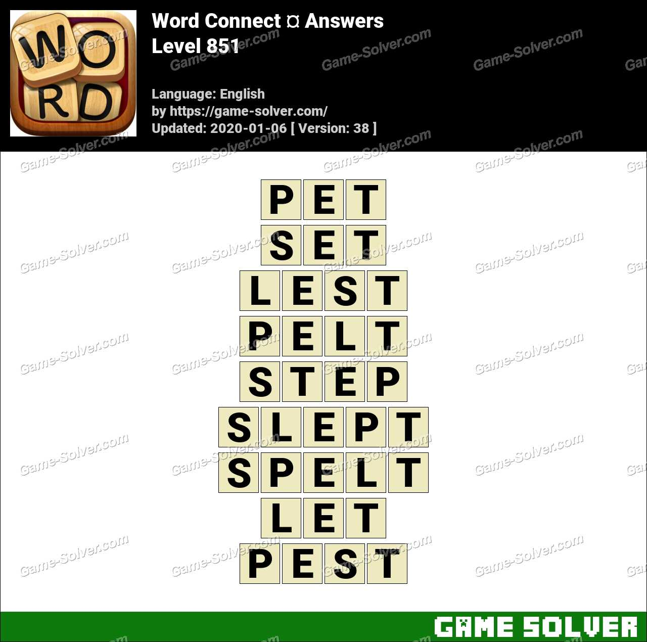 Word Connect Level 851 Answers