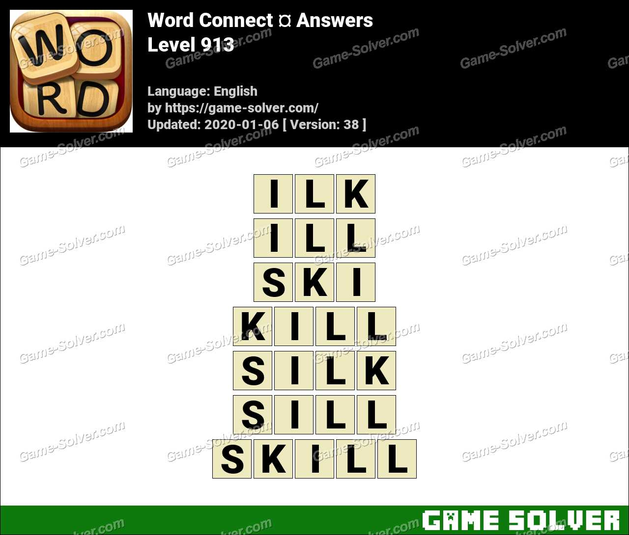 Word Connect Level 913 Answers