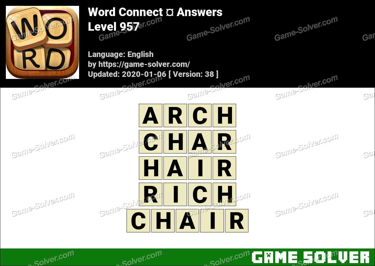 Word Connect Level 957 Answers