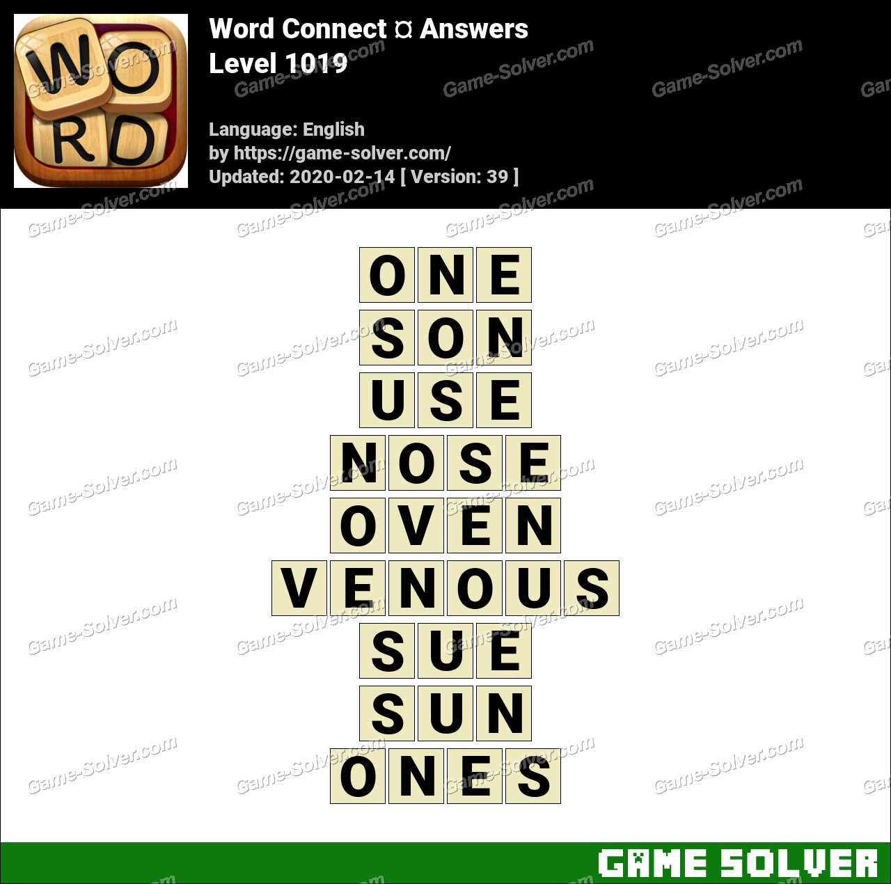 Word Connect Level 1019 Answers