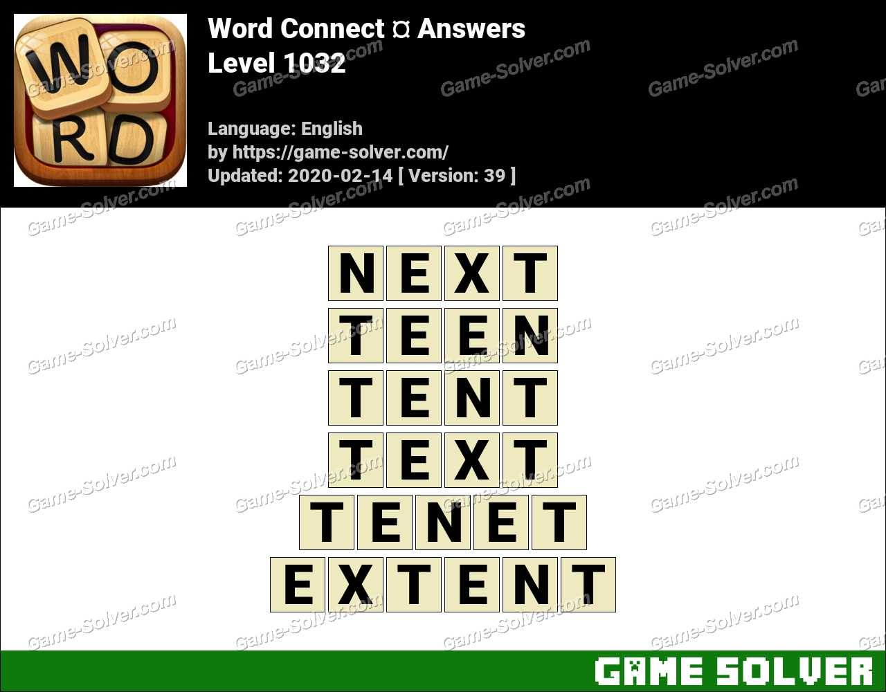 Word Connect Level 1032 Answers