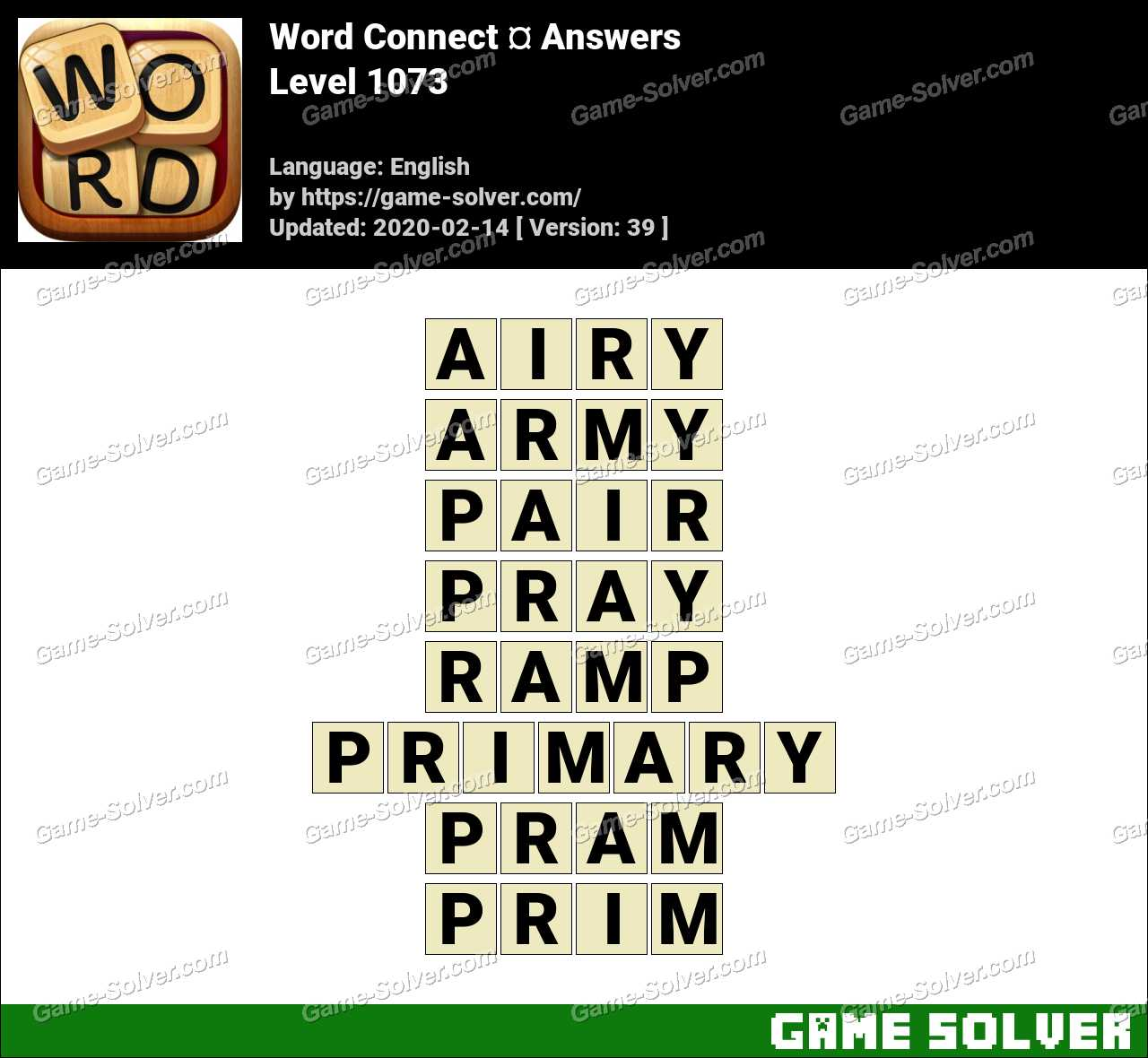 Word Connect Level 1073 Answers